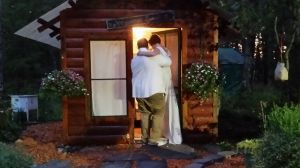 "Heading into the ""Honeymoon Suite"" immediately following the ceremony."