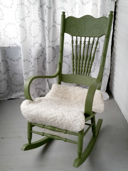 green-chair